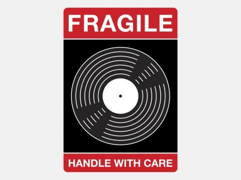 Vinyl Verzendstickers - Handle With Care