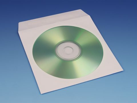 CD Hoesjes Papier, Wit - Met Klepje